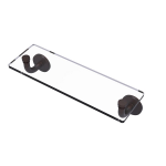 Allied Brass - Remi Collection 16 Inch Glass Vanity Shelf with Beveled Edges - Venetian Bronze