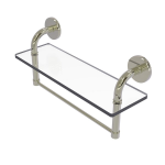 Allied Brass - Remi Collection 16 Inch Glass Vanity Shelf with Integrated Towel Bar - Polished Nickel