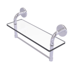 Allied Brass - Remi Collection 16 Inch Glass Vanity Shelf with Integrated Towel Bar - Satin Chrome