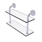 Allied Brass - Remi Collection 16 Inch Two Tiered Glass Shelf - Polished Chrome