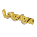 Allied Brass - Remi Collection 3 Position Multi Hook - Polished Brass