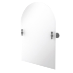 Allied Brass - Frameless Arched Top Tilt Mirror with Beveled Edge - Matte Gray - RD-94