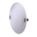 Allied Brass - Frameless Oval Tilt Mirror with Beveled Edge - Antique Copper - RD-91