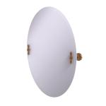 Allied Brass - Frameless Oval Tilt Mirror with Beveled Edge - Brushed Bronze - RD-91