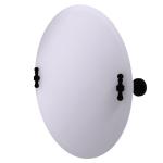 Allied Brass - Frameless Round Tilt Mirror with Beveled Edge - Matte Black - RD-90