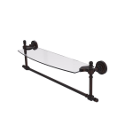 Allied Brass - Retro Dot Collection Glass Vanity Shelf with Integrated Towel Bar - Venetian Bronze