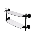 Allied Brass - Retro Dot Collection Two Tiered Glass Shelf - Matte Black