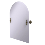 Allied Brass - Frameless Arched Top Tilt Mirror with Beveled Edge - Antique Brass - RW-94