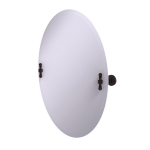 Allied Brass - Frameless Oval Tilt Mirror with Beveled Edge - Antique Bronze - RW-91