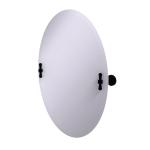 Allied Brass - Frameless Oval Tilt Mirror with Beveled Edge - Matte Black - RW-91
