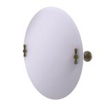Allied Brass - Frameless Round Tilt Mirror with Beveled Edge - Antique Brass - RW-90