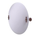 Allied Brass - Frameless Round Tilt Mirror with Beveled Edge - Antique Copper - RW-90