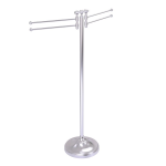 Allied Brass - Towel Stand with 4 Pivoting Swing Arms - Satin Chrome - RWM-8