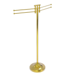 Allied Brass - Towel Stand with 4 Pivoting Swing Arms - Unlacquered Brass - RWM-8