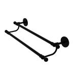Allied Brass - Skyline Collection Double Towel Bar - Matte Black