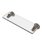 Allied Brass - Soho Collection Glass Vanity Shelf with Beveled Edges - Antique Brass