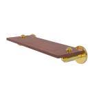 Allied Brass - Soho Collection Solid IPE Ironwood Shelf - Polished Brass