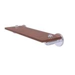 Allied Brass - Soho Collection Solid IPE Ironwood Shelf - Satin Chrome