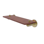 Allied Brass - Soho Collection Solid IPE Ironwood Shelf - Unlacquered Brass