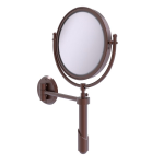 Allied Brass - Soho Collection Wall Mounted Make-Up Mirror 8 Inch Diameter - Antique Copper