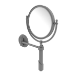 Allied Brass - Soho Collection Wall Mounted Make-Up Mirror 8 Inch Diameter - Matte Gray