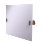 Allied Brass - Frameless Landscape Rectangular Tilt Mirror with Beveled Edge - Brushed Bronze - SB-93