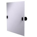 Allied Brass - Frameless Rectangular Tilt Mirror with Beveled Edge - Matte Black - SB-92