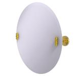 Allied Brass - Frameless Round Tilt Mirror with Beveled Edge - Unlacquered Brass - SB-90