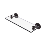 Allied Brass - South Beach Collection Glass Vanity Shelf with Beveled Edges - Antique Bronze
