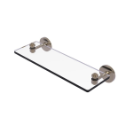 Allied Brass - South Beach Collection Glass Vanity Shelf with Beveled Edges - Antique Pewter