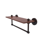 Allied Brass - South Beach Collection Solid IPE Ironwood Shelf with Integrated Towel Bar - Venetian Bronze