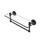 Allied Brass - Southbeach Collection Glass Vanity Shelf with Integrated Towel Bar - Antique Bronze