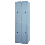 Lyon, LLC - ExchangeMaster 4-Door Hanging Garment Locker with Combo Locks