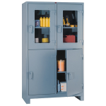 Lyon, LLC - All Welded Storage Clearview Multi Door Cabinet 48″w x 24″d x 82″h