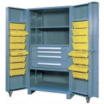Lyon, LLC - All Welded Maintenance Center 5 Shelves 18 Tilt Bins 39″w x 36-1/2″d x 75″h