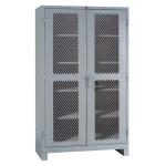 Lyon, LLC - All Welded Storage Cabinet Diamond Perforated Doors 48″w x 24″d x 82″h