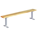 Lyon, LLC - 3 ft. Hardwood Locker Room Bench with Aluminum Pedestals