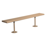 Lyon, LLC - 6 ft. Plastic Laminate Locker Room Bench with Steel Pedestals