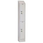 Lyon, LLC - Antimicrobial Locker Double Tier 12″w x 12″d x 80″h - 1 Wide