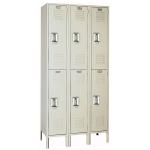Lyon, LLC - Standard Steel Locker Double Tier 36″w x 15″d x 66″h - 3 Wide