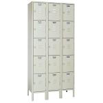 Lyon, LLC - Standard Steel Locker Five Tier 36″w x 18″d x 66″h - 3 Wide