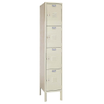 Lyon, LLC - Standard Steel Locker Four Tier 12″w x 18″d x 66″h - 1 Wide