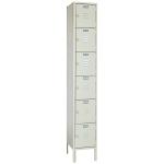 Lyon, LLC - Standard Steel Locker Six Tier 12″w x 18″d x 78″h - 1 Wide