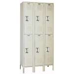 Lyon, LLC - Standard Steel Locker Double Tier 36″w x 18″d x 78″h - 3 Wide