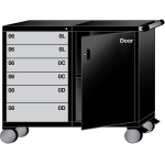 Lyon, LLC - Mobile Workstation 6 Drawers 58 Compartments 60″w