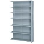 Lyon, LLC - 8000 Series Closed Shelving 7 Heavy Duty Shelves Add-on 48″w x 18″d x 84″h