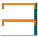 Lyon, LLC - Pallet Rack Front to Back Supports Add-on 144″w x 42″d x 96″h
