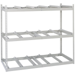 Lyon, LLC - Record Storage Rack Support Rails Starter 69″w x 32″d x 60″h