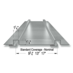 Merchant & Evans, Inc. - 114-R Batten Metal Roof and Wall Panel System