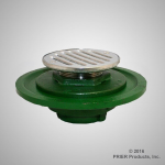 Prier - Drainage Products - A-110 - Cast Iron with Threaded Clamp Ring